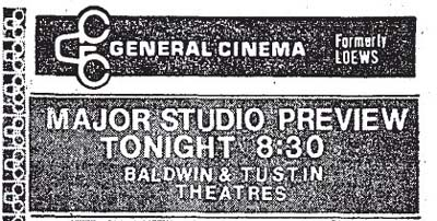 Tustin Theatre General Cinema Listing